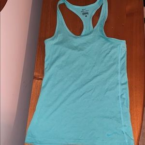 Nike dri fit tank teal/light blue size small